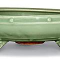 A Longquan celadon -glazed bulb bowl, Ming dynasty (1368-1644)