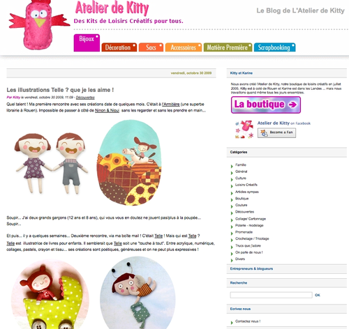 blog atelier de Kitty