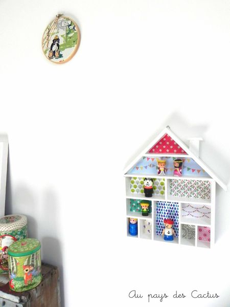 Etagère-maison décorée papiers Fifi Mandirac Au pays des Cactus 10