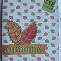 Une carte d'automne
