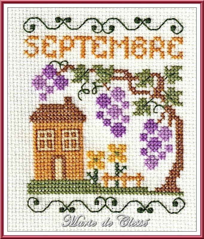 Calendrier sur douze mois (Trouvé sur Pinterest) [9] Septembre