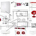 Aménagement d'une chambre ado design
