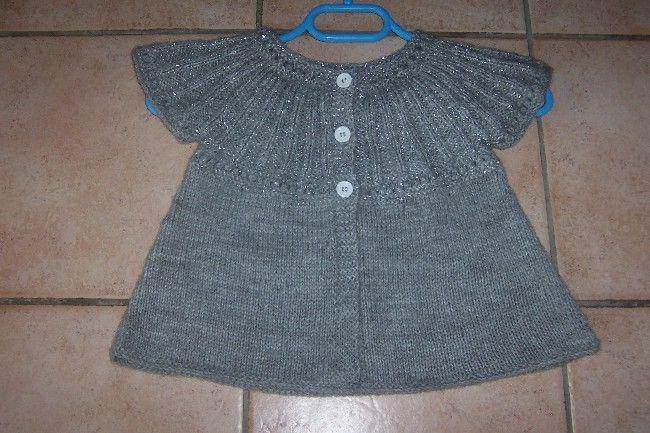 comment tricoter un gilet pour fillette