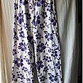 coton violet fleuri style Hawai