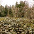 2008 04 08 Panorama des pierres volcaniques au sud de Freycenet près du Pic du Lizieux