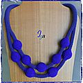Collier MS 'Ecume 9' indigo