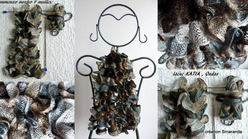 tricoter une echarpe katia ondas
