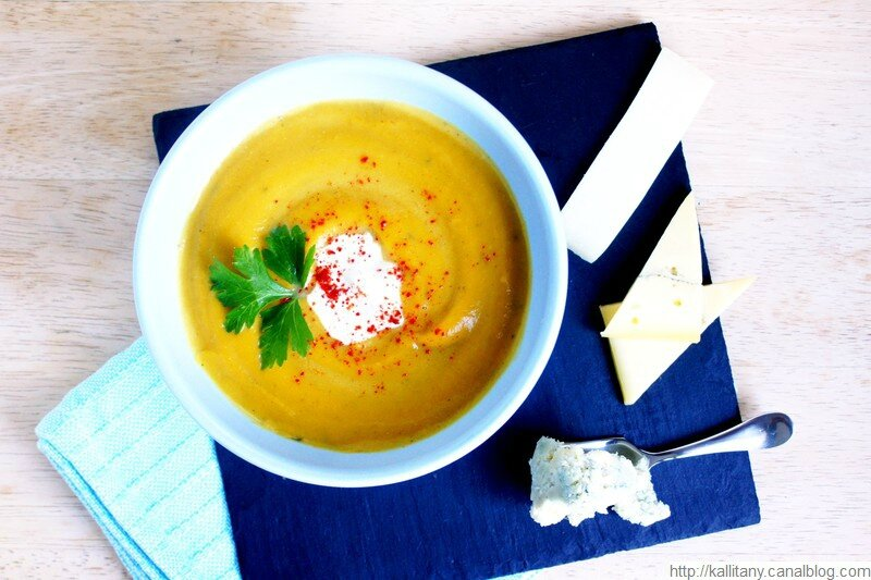 Blog culinaire Kallitany - Velouté patate douce potiron et fromages (9)