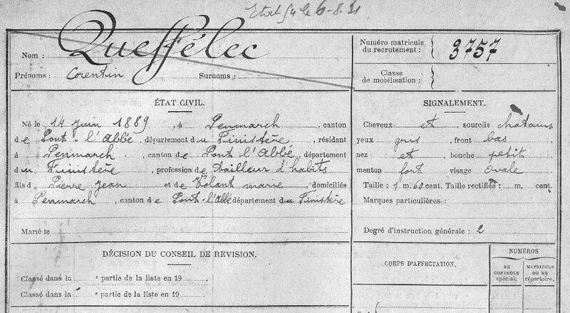 FM3757 Bureau Quimper Corentin Queffelec classe 1909_1