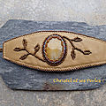 Bracelets cuir et pierres fines