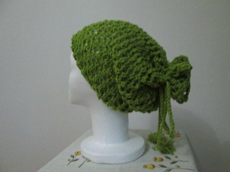 Col façon bonnet en favorite vert (4)