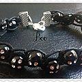 bracelet noir 2