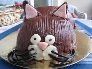 Gateau au chocolat anniversaire chat