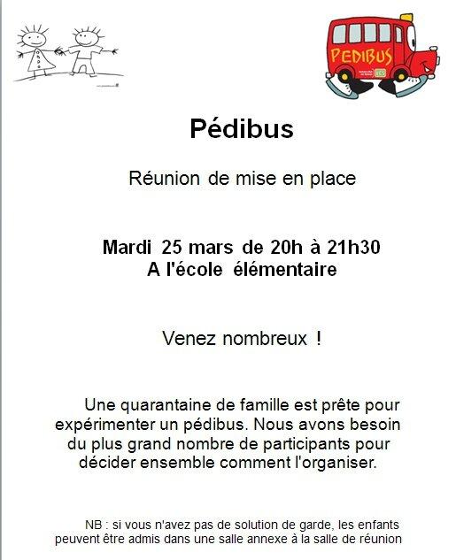 affiche pedibus