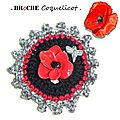Broche Coquelicot