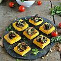 Toasts de polenta aux champignons persillés #vegan