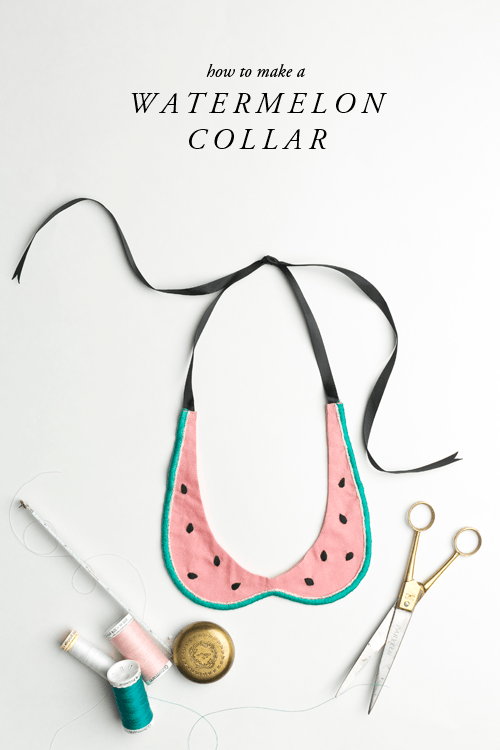 how-to-make-a-watermelon-collar