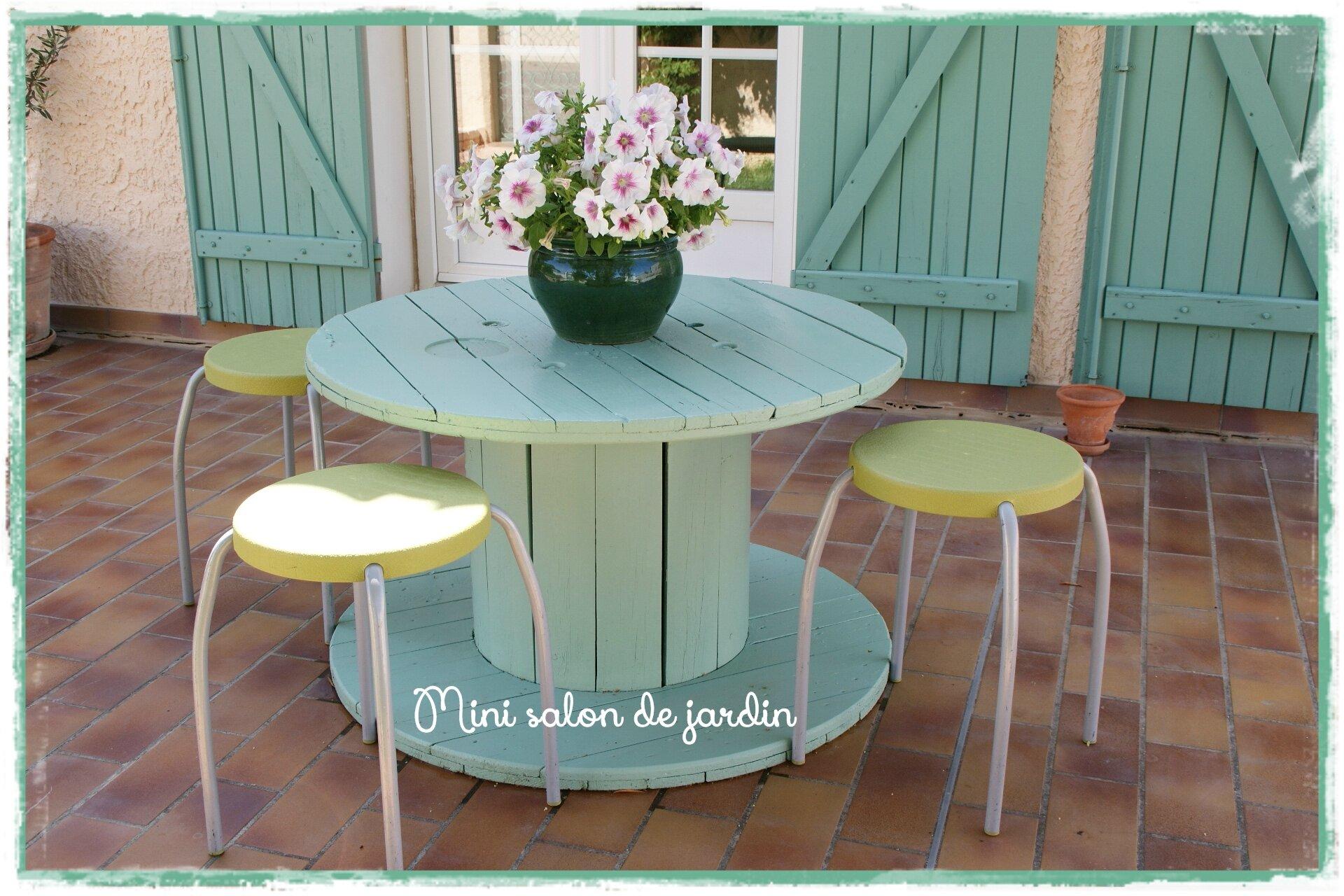 Salon De Jardin En Palette Et Touret ~ Idées de Design Maison et ...