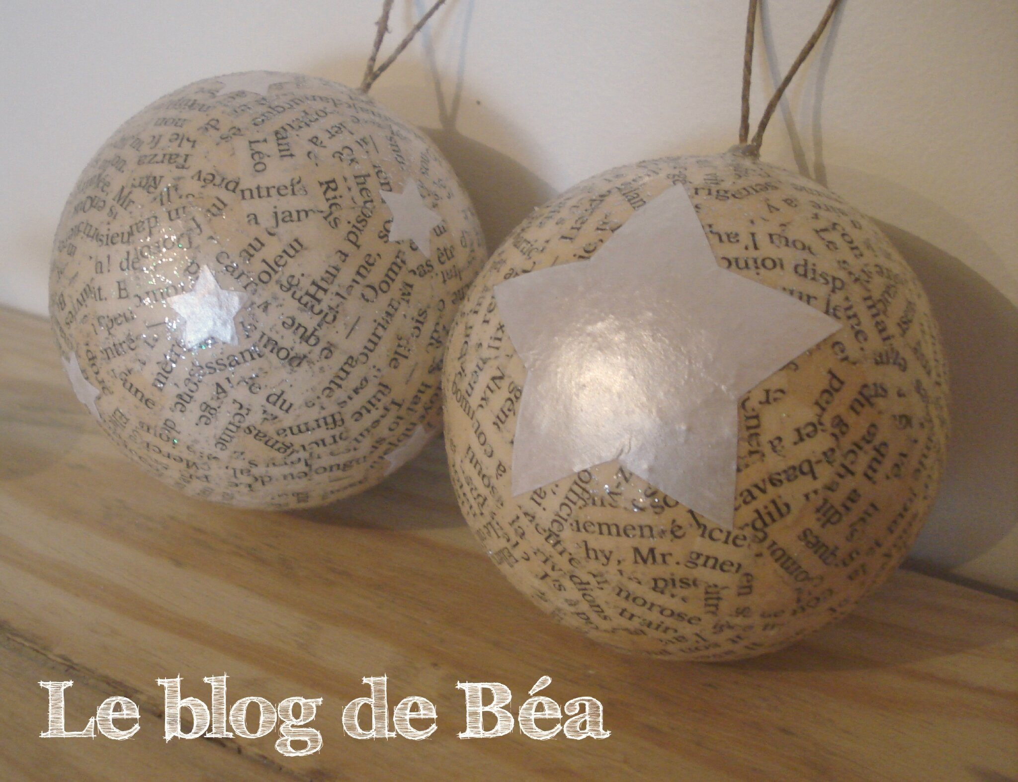 Diy boules de no l photo de no l le blog de b a - Le dressing de bea ...