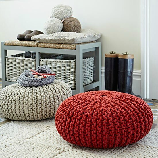 Knitted-pouffes-and-rug--Country-Homes--Interiors--Housetohome_co_uk