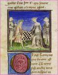 BnF Ms Fr 97-Tristan de Leonois-1400-1425 folio57v-Tristan et Yseut jouent aux échecs