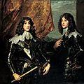 Van Dyck, 1637 : Charles Louis électeur palatin et le prince Rup