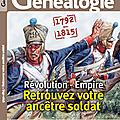 1792-1815, de la révolution à l'empire, retrouvez votre ancêtre soldat