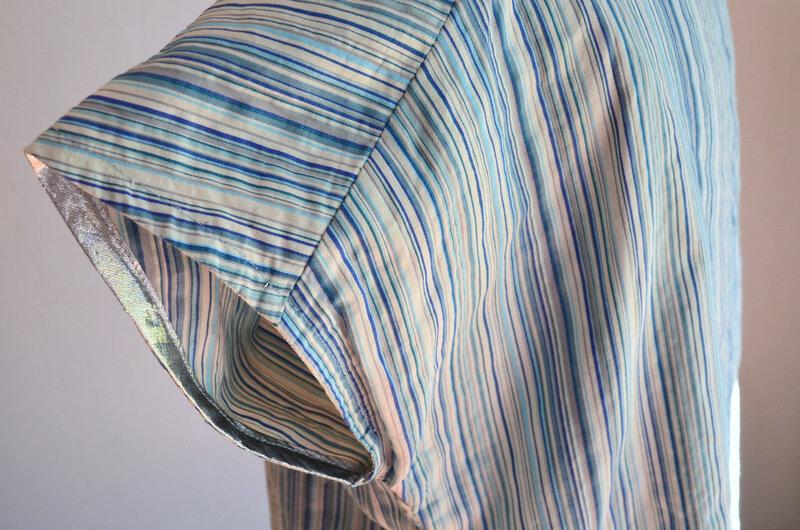 Chemise bleue à petit plis-couture-La chouette bricole (5)
