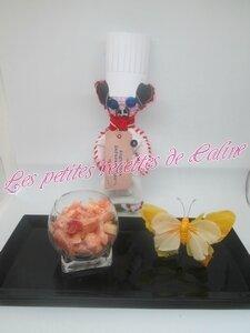Salade de crevettes et pamplemousse, sauce rose17