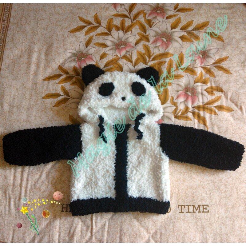 Manteau panda avec manches 1