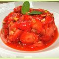 Tartare de fraises aux pistaches