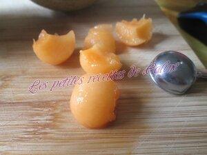 Verrine de pâtes au melon et jambon09