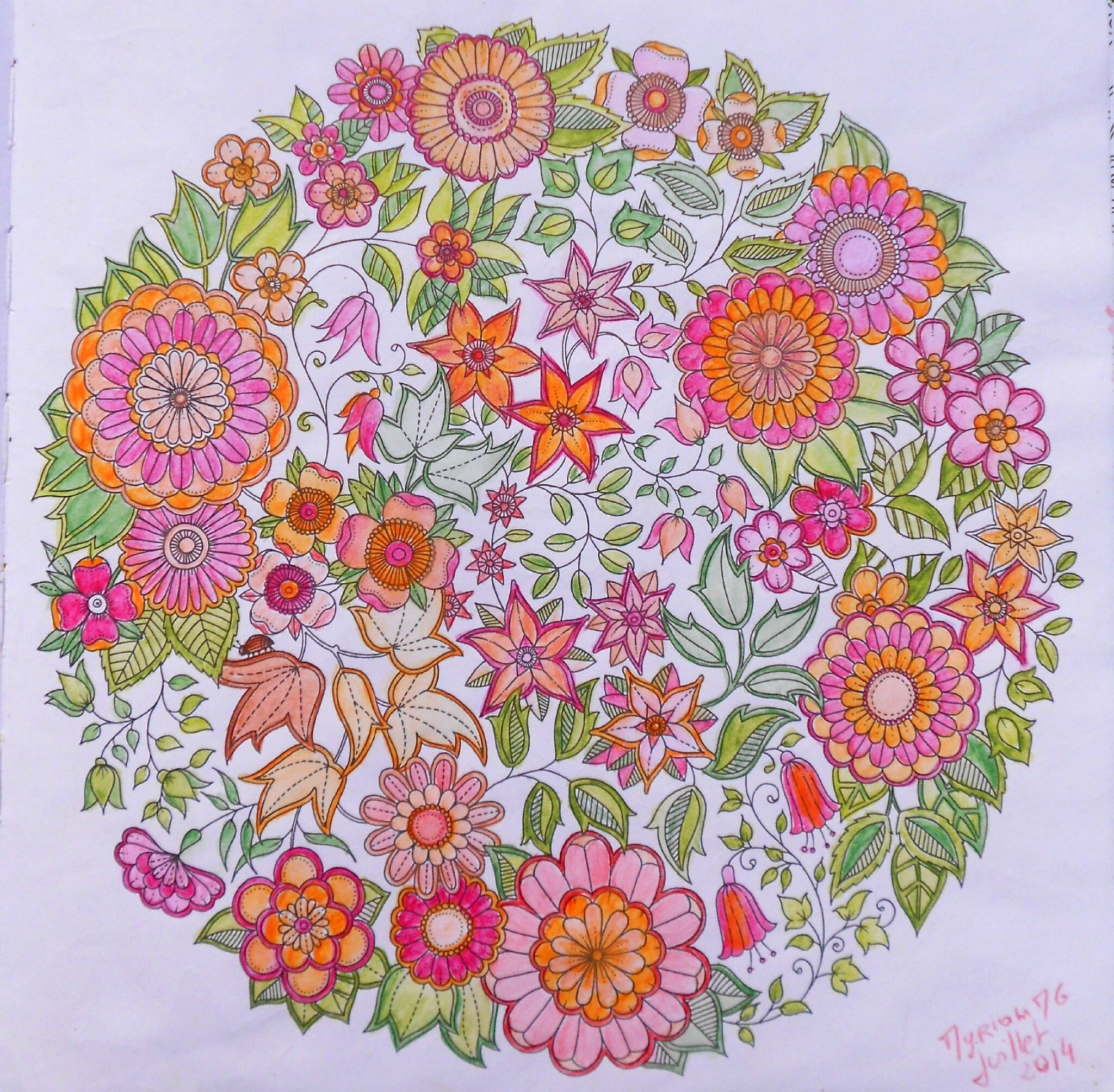 Coloriages anti stress myriammg scrap for O jardin secret suresnes
