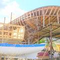Bateau en construction