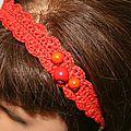 bandeau orange perles c