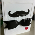 Carte moustache stampin'up