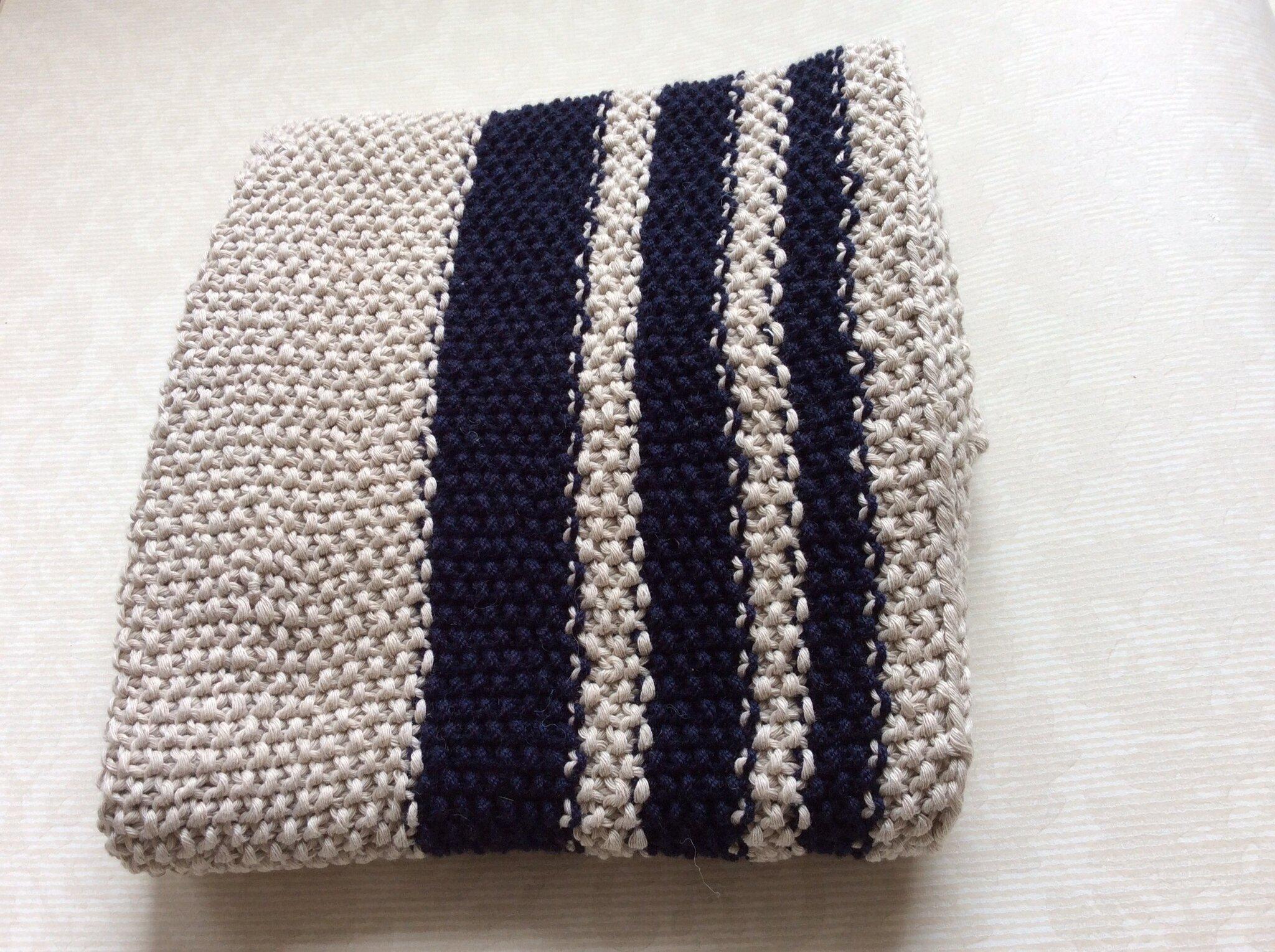 Couverture en coton bio lcp knit and sewing - Couverture en coton ...