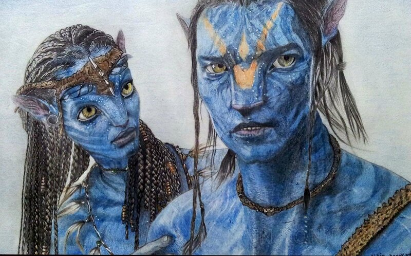 AVATAR. Neytiri & Jake Sully.