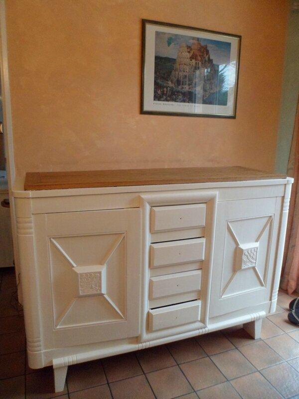 Jolie salle manger ancienne ivoire relook meubles62 for Jolie salle a manger