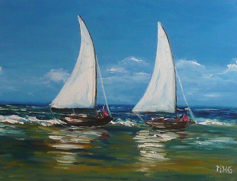 marine - un monde en couleurs - Peinture A L Eau Sur Peinture A L Huile