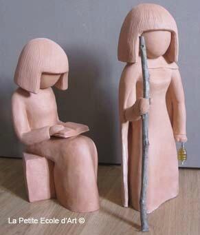 Sculpture Papesse Hermite
