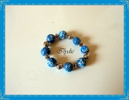 Bracelet boule hidden magic bleu Br1 (2012)