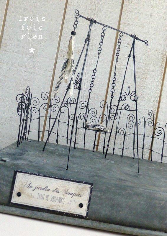 Au jardin des soupirs, fil de fer, wire garden 5