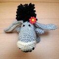 Petit âne réalisé au crochet