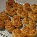 palmiers moutarde fromage râpé