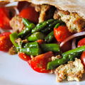 Pita gav de lgumes saisonniers et tofu