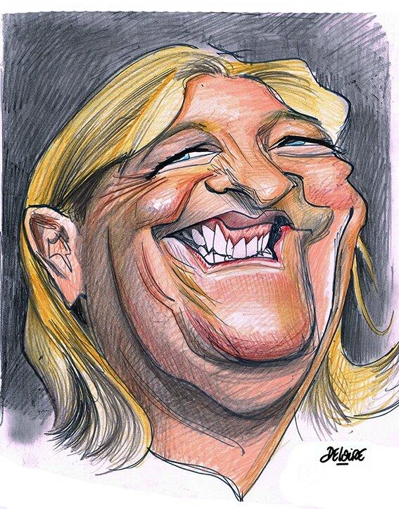 """Vaizdo rezultatas pagal užklausą """"marine le pen caricature"""""""