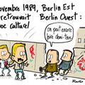 Chute du mur, berlin, novembre 1989 et cousinades à la mode