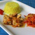 Wok : poulet sauté au poivron et au sésame
