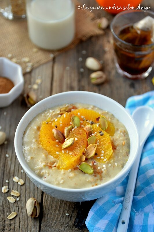 porridge avoine orange cannelle pistache vegan 1